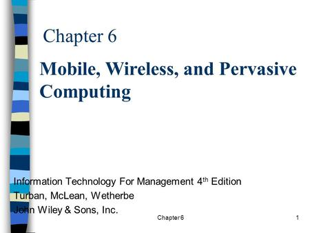 <strong>Mobile</strong>, Wireless, and Pervasive <strong>Computing</strong>