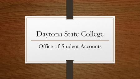Office of Student Accounts
