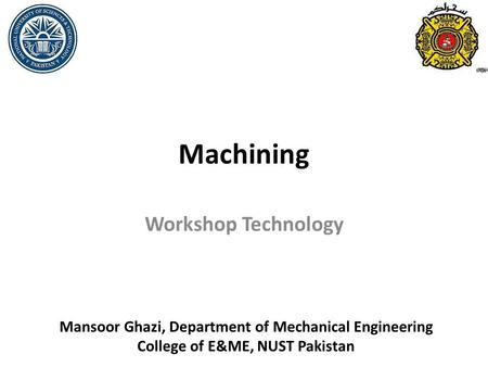 Machining Workshop Technology