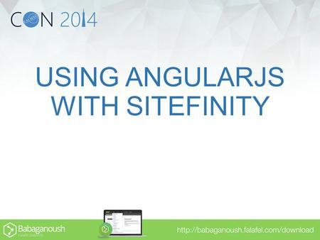 USING ANGULARJS WITH SITEFINITY