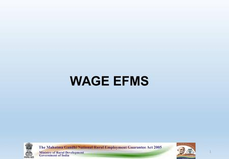 WAGE EFMS 1. 2 Update Applicants account detail as per downloaded format.