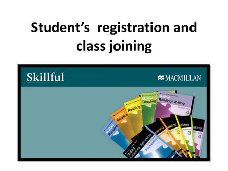 Student's registration and class joining. Student's registration.