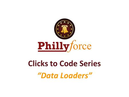 "Clicks to Code Series ""Data Loaders""."