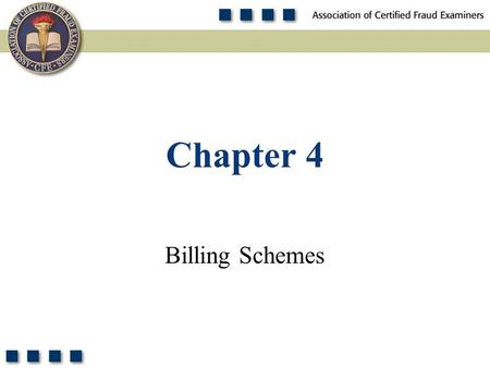 Chapter 4 Billing Schemes.
