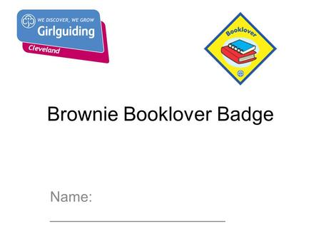 Brownie Booklover Badge