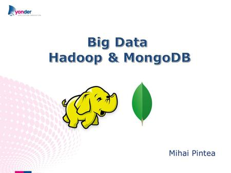 Mihai Pintea. 2 Agenda Hadoop and MongoDB DataDirect driver What is Big Data.