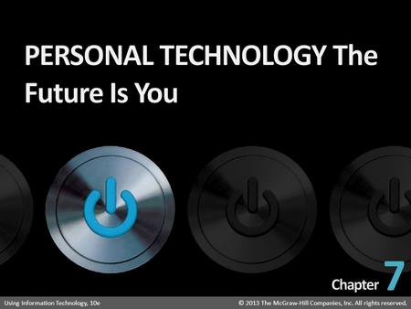 PERSONAL TECHNOLOGY The Future Is You