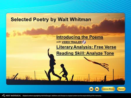 Selected Poetry by Walt Whitman