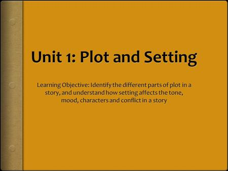 Once upon a time…  Plot is the sequence of related events that tells us what happens in a story. A good plot:  Has characters who experience a problem/conflict.