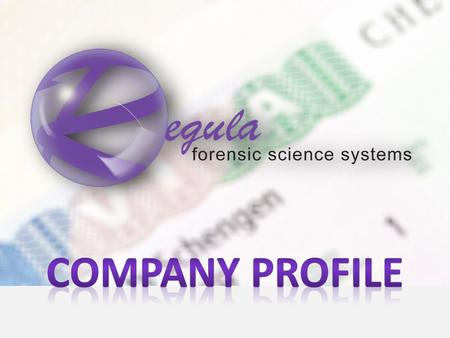 2 REGULA was established in 1992 in BELARUS Main business: developing forensics devices, software and electronic databases of documents.