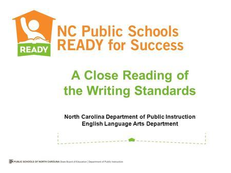 north carolina department of public instruction