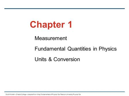 Measurement Fundamental Quantities in Physics Units & Conversion