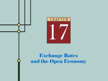 Copyright © 2001 by The McGraw-Hill Companies, Inc. All rights reserved. Slide 17 - 0 Exchange Rates and the Open Economy.