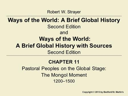 Pastoral Peoples on the Global Stage: