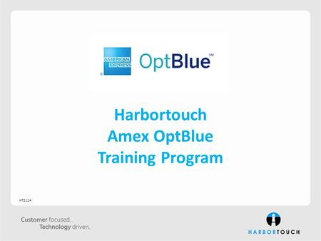 Harbortouch Amex OptBlue Training Program HT2124.