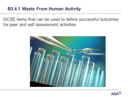 B3.4.1 Waste From Human Activity