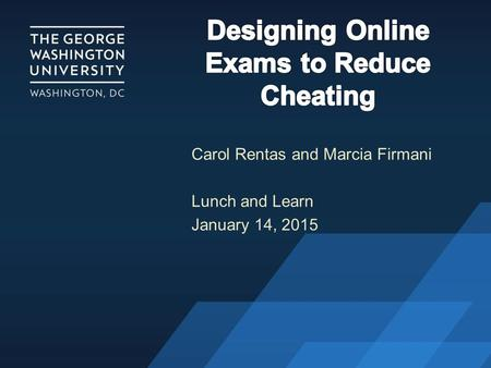 Carol Rentas and Marcia Firmani Lunch and Learn January 14, 2015.