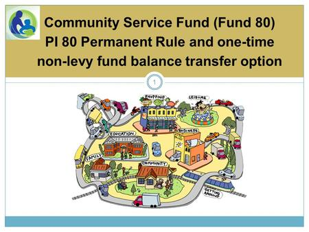 1 Community Service Fund (Fund 80) PI 80 Permanent Rule and one-time non-levy fund balance transfer option.