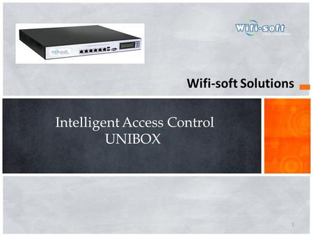 Wifi-soft Solutions Intelligent Access Control UNIBOX 1.