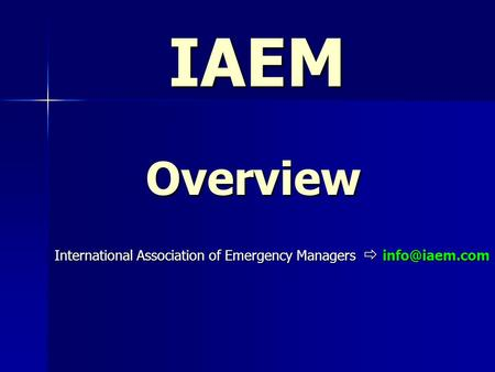 International Association of Emergency Managers 