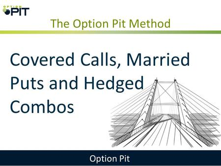 The Option Pit Method Option Pit Covered Calls, Married Puts and Hedged Combos.