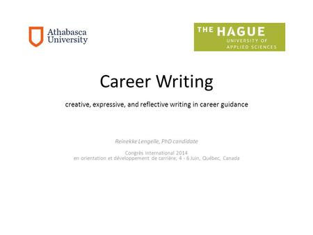 creative, expressive, and reflective writing in career guidance