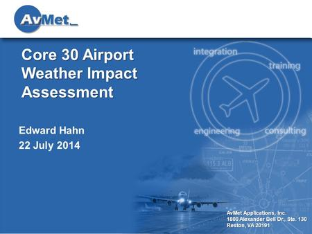 Core 30 Airport Weather Impact Assessment