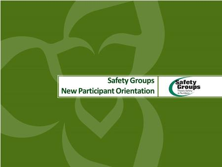 Www.safetygroups.ca 1 Safety Groups New Participant Orientation.
