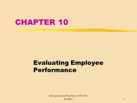 Evaluating Employee Performance - Ppt Video Online Download