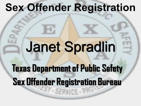 Texas Department of Public Safety Sex Offender Registration Bureau