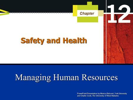 Managing Human Resources - Unit 12