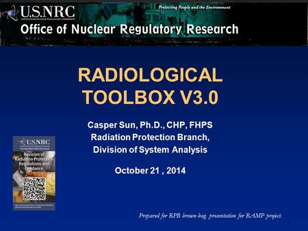 RADIOLOGICAL TOOLBOX V3.0