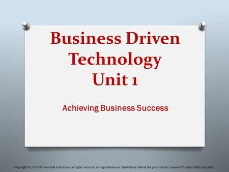 Business Driven Technology Unit 1