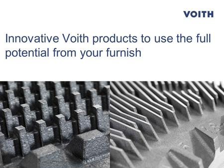 1 Innovative Voith products to use the full potential from your furnish AFCP | Buenos Aires | 2015-05-13 | Oliver Lüdtke.