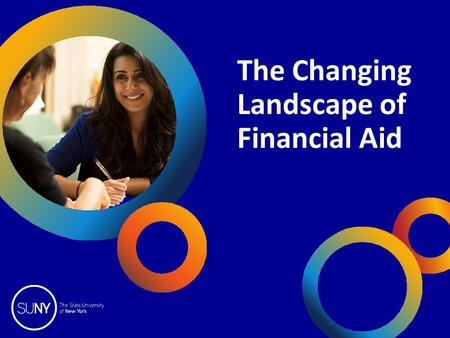 The Changing Landscape of Financial Aid. 2014 SUNY College Fairs OpInform 2014 TOPICS 1.What's new in financial aid 2.How is financial need determined?