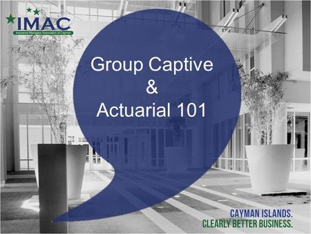 Group Captive & Actuarial 101.