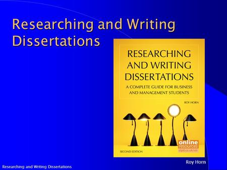 horn researching and writing dissertations