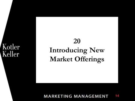 20 Introducing New Market Offerings 1. Chapter Questions  What challenges does a company face in developing new products and services?  What organizational.