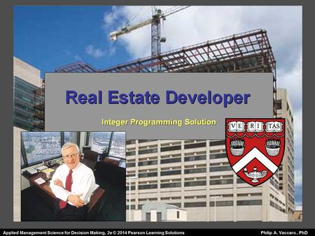 Real Estate Developer A real estate developer is considering three possible projects: a small apartment complex, a small shopping center, and a mini-warehouse.