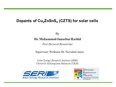 Dopants of Cu2ZnSnS4 (CZTS) for solar cells