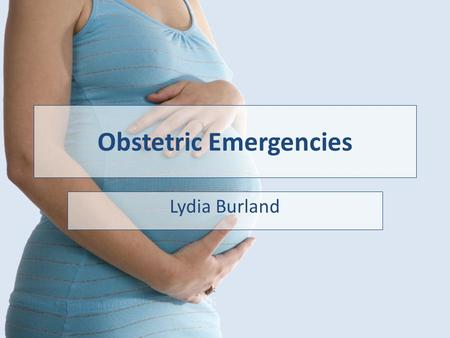 objectives early pregnancy