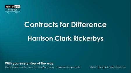 Contracts for Difference Harrison Clark Rickerbys.