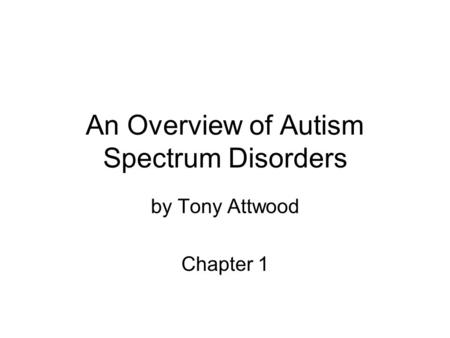 Obsessive Compulsive Disorder and Autism Spectrum Disorder