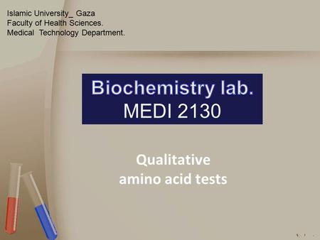 Qualitative amino acid tests