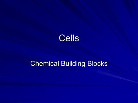 Chemical Building Blocks