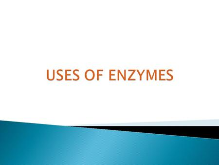 USES OF ENZYMES.