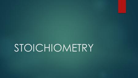 STOICHIOMETRY.  Stoichiometry is the science of using balanced chemical equations to determine exact amounts of chemicals needed or produced in a chemical.