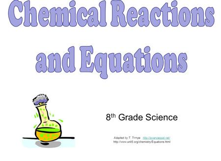 Chemical Reactions and Equations 8th Grade Science
