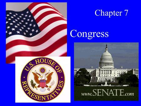 Chapter 7 Congress. Constitutional Powers All powers given to Congress can be found in Article I, Section 8 –Lay and collect taxes –Borrow money –Regulate.
