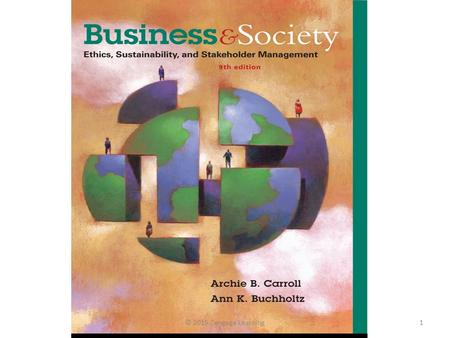 © 2015 Cengage Learning1. Chapter 8 Personal and Organizational Ethics © 2015 Cengage Learning2.